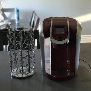 coffee maker and holder